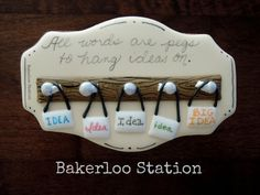 Idea Pegs   Bakerloo Station   Cookie Connection