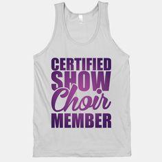 Certified Show Choir Member