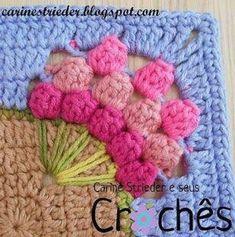 Transcendent Crochet a Solid Granny Square Ideas. Inconceivable Crochet a Solid Granny Square Ideas. Point Granny Au Crochet, Crochet Flower Squares, Granny Square Crochet Pattern, Crochet Blocks, Crochet Blanket Patterns, Crochet Motif, Crochet Designs, Crochet Flowers, Crochet Stitches