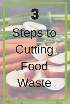 Food waste is a huge problem. I know that composting is one great way to cut back on how much goes in the trash. It's also important to buy groceries you need rather than buying too much.