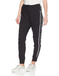 336230847bb Calvin Klein Jeans Womens Jogger Pant Logo Side Tape Black S   You can find  out