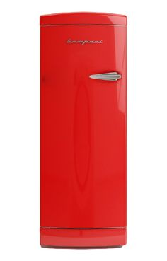 Frigo Bompani Retrò monoporta #rosso apertura sinistra #Bompani #architettura #design #arredamento #retrò #MadeInItaly #frigoriferi #Fridge #ItalianCulture #ItalianCuisine