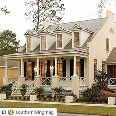 Hmm... we'll just leave this right here. (Pic by @southernlivingmag)  #MySLHousePlan #wecandreamcantwe #curbappeal