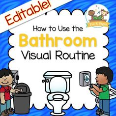 Printable visual picture prompts to help you teach your Preschool or Pre-K students classroom ROUTINES, such as how to use the bathroom independently.