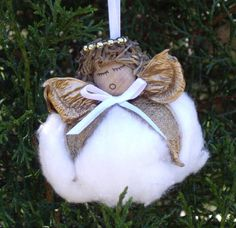 Homemade Angel Christmas Ornaments | ... Angel Ornaments, Muslin, Americana, Lace Pinecone Ornaments Crafts