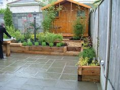 small garden patio ideas - Google Search