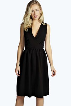 Leanne Wrap Over Midi Dress With Open Back Detail alternative image