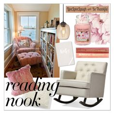 """reading nook"" by lovedreamfashion ❤ liked on Polyvore featuring interior, interiors, interior design, home, home decor, interior decorating, Baxton Studio, West Elm, George Kovacs by Minka and Nook"