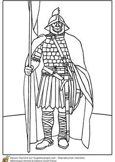 coloriage d u0027une belle illustration d u0027un chevalier vêtu d u0027une