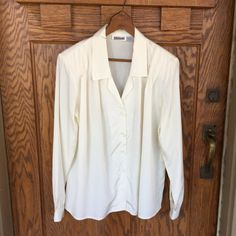 Vintage Cream Colored Silky Blouse  Country by MyVintagePoint