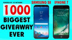FIRST 10000 SUBSCRIBERS RECEIVE  - IPHONE 7/7 PLUS | 🔴 SAMSUNG S8/S8+ | ...