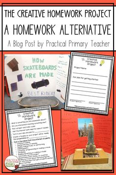 Are you looking for an engaging and worthwhile alternative to traditional homework? Read this blog post about my Creative Homework Project! Get to know your students on a different level as they study and present on a self-selected topic. This project really ups the engagement factor as students research and learn about anything they want! Loved by teachers, parents, and students!! Elementary Classroom Themes, High School Classroom, Classroom Resources, 1st Grade Activities, Teaching Activities, Teaching Resources, Teacher Blogs, Teacher Hacks, Critical Thinking Activities