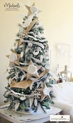 DIY Painted Christmas Tree by @Amy Locurto {LivingLocurto.com}  {LivingLocurto.com} #JustAddMichaels