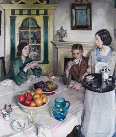 The Young Menage, 1932 - Harold Harvey (British, 1874-1921) Newlyn School