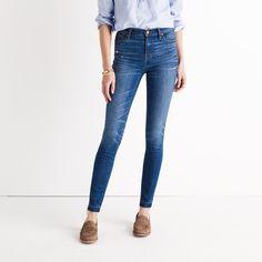 "9"" High-Rise Skinny Jeans in Hammond Wash: Drop-Hem Edition"