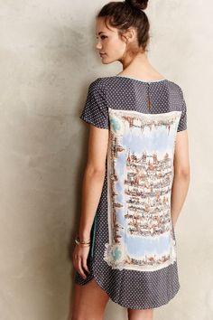 Around Town Silk Tee Dress - anthropologie.com
