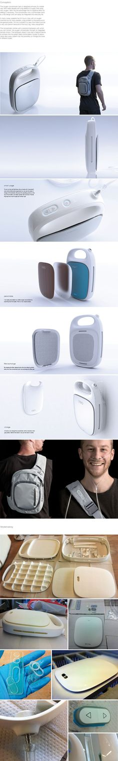 Mobile Oxygen by Lina Kuroi, via Behance #industrialdesign