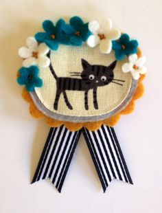 Kitty Badge by misomade on Etsy