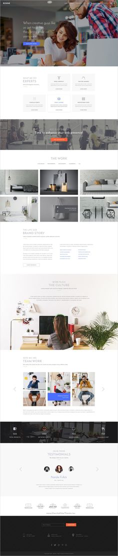 Roxine is a creative #PSD #template for #webdesign, photography, architecture or startup business website with 5 unique homepage and 15 organized PSD pages download now➯ https://themeforest.net/item/multi-purpose-creative-agency-portfolio-psd-template-roxine/17201814?ref=Datasata