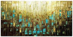 Canvas Wall Decor Large Abstract Wall Art Print by ModernHouseArt