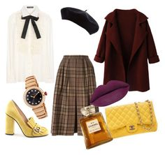 """""""preppy"""" by asrnae on Polyvore featuring Yves Saint Laurent, Dolce&Gabbana, WithChic, Gucci, Chanel, Bulgari, women's clothing, women's fashion, women and female"""