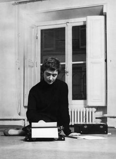 "Françoise Sagan in her apartment ""rue de Grenelle"", Paris, 1956. Photo Philippe le Tellier."