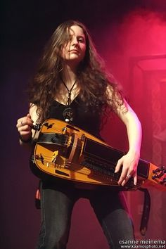 Anna Murphy from Eluvetie   no one else can rock the hurdy gurdy the way she does.
