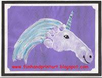 Handprint and Footprint Arts & Crafts: Cute Footprint Unicorn