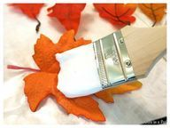 Make decorative Fall leaves out of Dollar Tree fall leaves and craft plaster