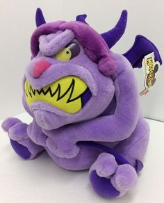 Disney Pain Hercules Mouseketoys Plush Purple Monster Teeth 11""