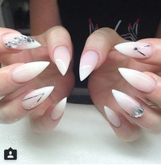 Translucent Stiletto Nails