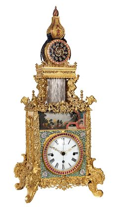 Rare and important Chinese Automaton bracket clock : Lot 2401