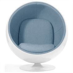 AEON Furniture Luna Fiber Glass Egg Chair ($1,288) ❤ liked on Polyvore featuring home, furniture, chairs, accent chairs, blue, colored chairs, glass furniture, colored furniture, blue furniture and sphere chair