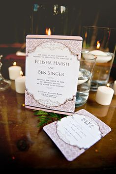 Shabby Chic Wedding Invitations Vintage Scroll by DaysGoneDesign, $5.00