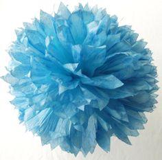 *Dream Wedding Color* Light Blue Ombre Pom / Ombre Blue Pompom / Blue Baby Nursery Decoration / Blue Wedding Decorations