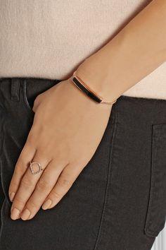 Monica Vinader|Baja rose gold-plated onyx bracelet|NET-A-PORTER.COM
