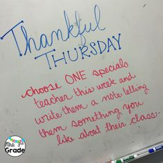 Thankful for Teacher Thursday-white board messages Daily Writing Prompts, Writing Resources, Writing Ideas, Morning Board, School Classroom, Future Classroom, Classroom Ideas, Bell Work, Leadership