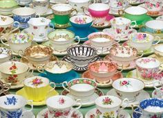 Collection tea cups