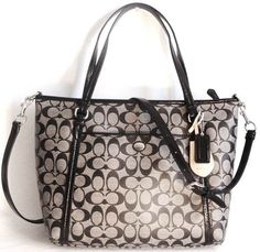 3e49299bc64c NWT Black Coach Peyton Signature East West Shoulder Bag. Starting at  14 on  Tophatter.com!