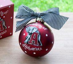 These adorable Colligate ornaments are perfect for any sports fan or college student's Christmas Tree!