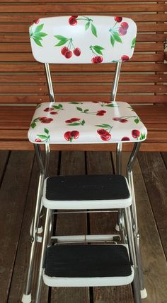 A personal favorite from my Etsy shop https://www.etsy.com/listing/245973949/vintage-up-cycled-1960s-cosco-step-stool