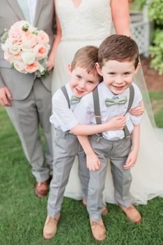Elegant Southern Wedding at Little River Farms is part of Ring bearer wedding Elegant yet charming with the perfect amount of southern sweetness, this beauty of a wedding at Little River Farms is my - Little River Farms, Wedding With Kids, Kids Wedding Suits, Wedding Page Boys, Groom And Groomsmen, Bride Groom, Wedding Attire, Wedding Dresses, Wedding Bells