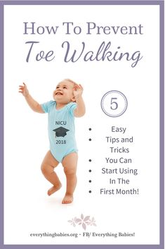 Prevent Toe Walking: 5 Easy tips and tricks for babies