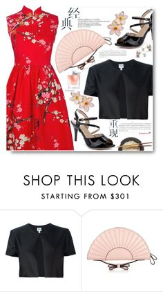 """""""Spring"""" by beebeely-look ❤ liked on Polyvore featuring Armani Collezioni, RED Valentino, Lancôme, Spring, floral, floralprint, sammydress and japan"""