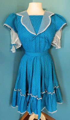 Vintage 60s Square Dance Dress. $34.00, via Etsy.
