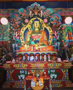 Grote tempel Tibetaans instituut Huy: Yeunten Ling