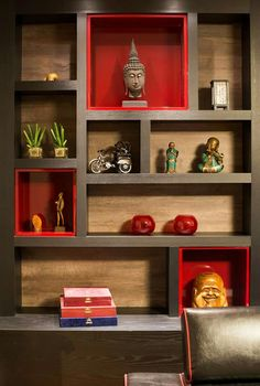 34 The Best Art Deco Bookcase Ideas Perfect For Living Room Decor - Modern Furniture: Affordable, Unique, Edgy Niche Design, Wall Design, House Design, Wall Showcase Design, Design Logo, Custom Floating Shelves, Floating Shelf Decor, Living Room Partition, Room Partition Designs