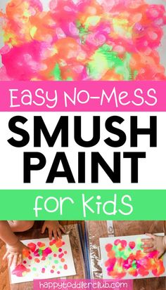 Easy painting for babies, toddlers, and kids! This art project is so easy and won't make a mess. Can be used as a DIY wall art canvas or regular paper. Perfect indoor activity for a rainy day! Christmas Activities For Toddlers, Fun Fall Activities, Indoor Activities For Kids, Infant Activities, Motor Activities, Halloween Activities, Sensory Activities, Baby Painting, Painting For Kids