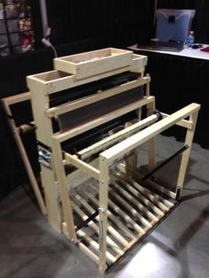 Baby Mac (MacComber) loom.  8 shaft, portable.  This is the new to me loom I just acquired.  I am very excited to work on this baby.