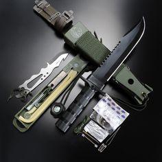 AITOR アウトドアナイフ 16016 ジャングルキング ブラック